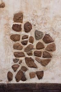 Rock work in wall
