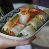 Showcasing the Thai fresh spring rolls - Thai cooking course.