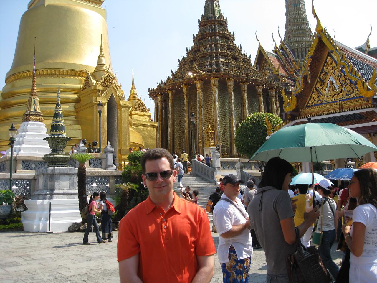 Phra Sri Rattana Chedi  (stupa) & Phra Mondop, the library