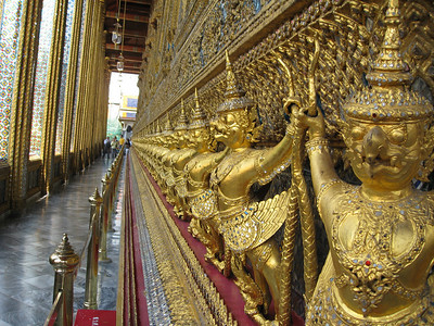 Garuda outside the ubosoth of Emerald Buddha