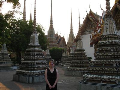 Corey among stupa