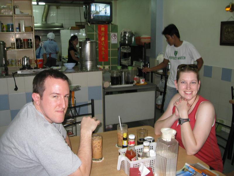 Corey and Eric at Phuket lunch spot