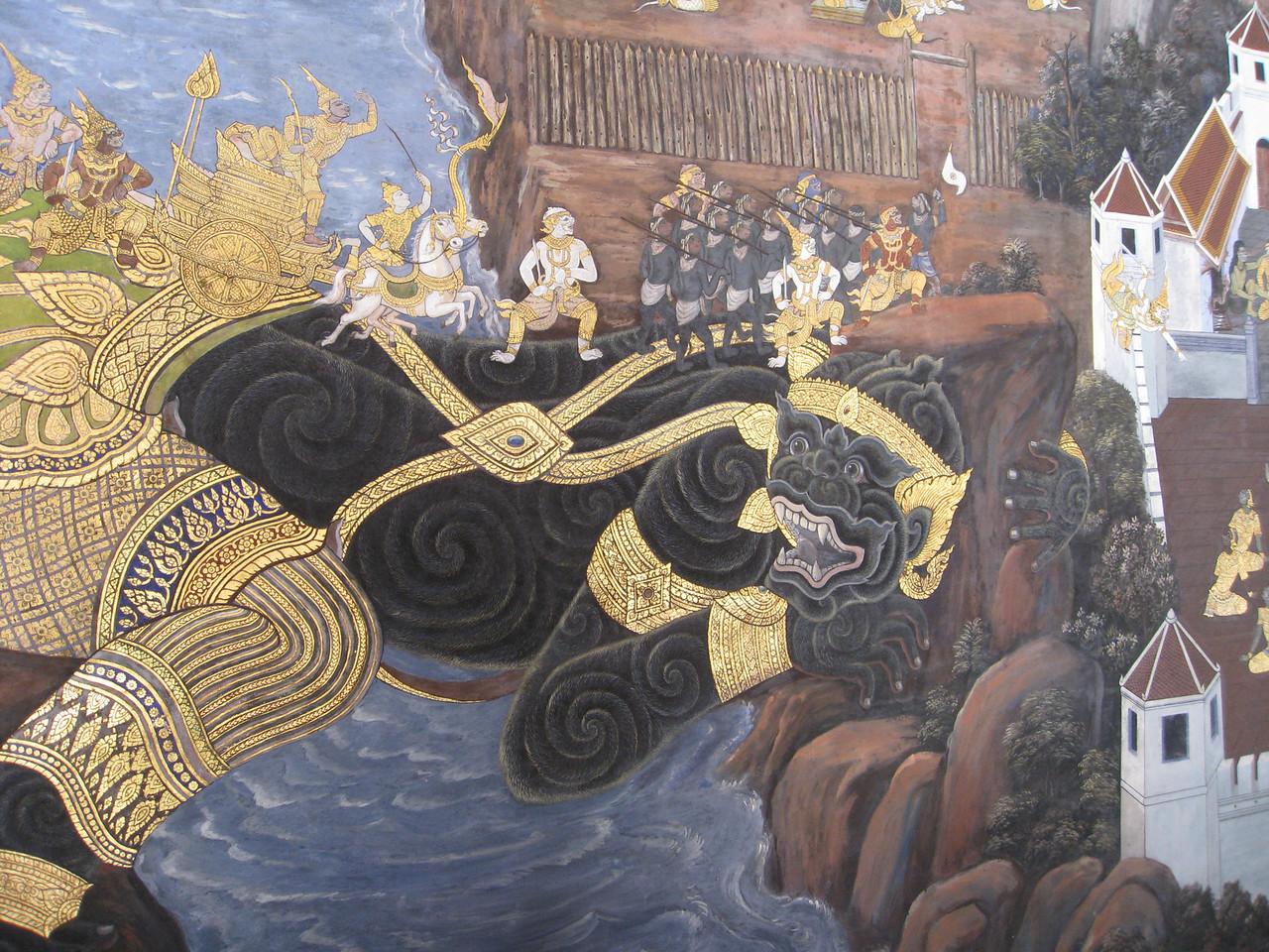 Scene from the Ramakien (รามเกียรติ์)