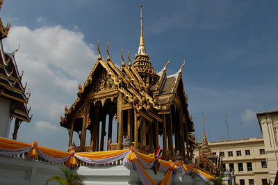 One of the many temples in the Grand Palace.