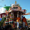 The silver chariot, drawn by a pair of bulls through the streets of Georgetown, and up the hill to the waterfall temple.