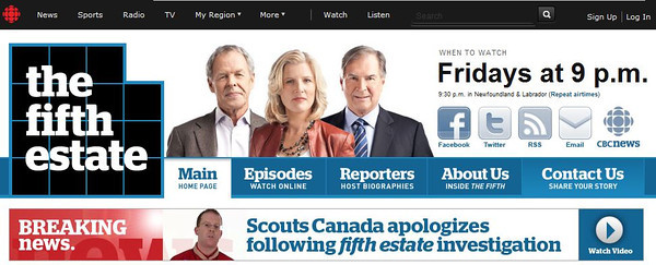 CBC (Canadian Broadcasting Corporation) Fifth Estate