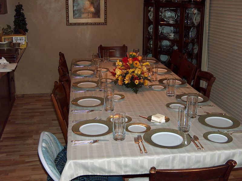 The Thanksgiving table always brings back memories!