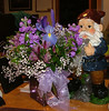 Waldo and Flowers from Andrew on my desk!