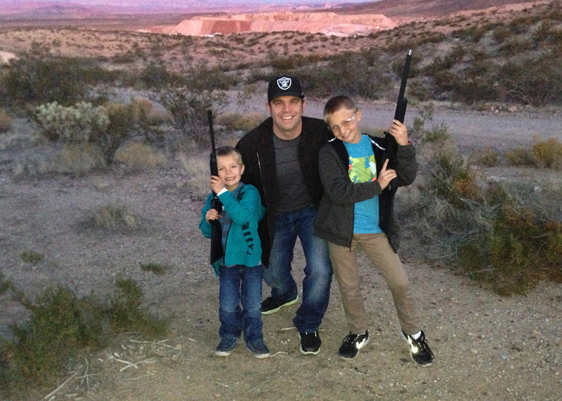 Luke, Chris (Dad) and Logan.
