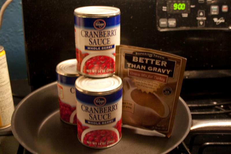 Cranberry sauce and gravy!