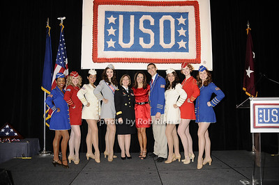 Honorees Major General Patricia D. Horoho & Stephanie George with the USO Liberty Bells photo by Rob Rich © 2009 robwayne1@aol.com 516-676-3939