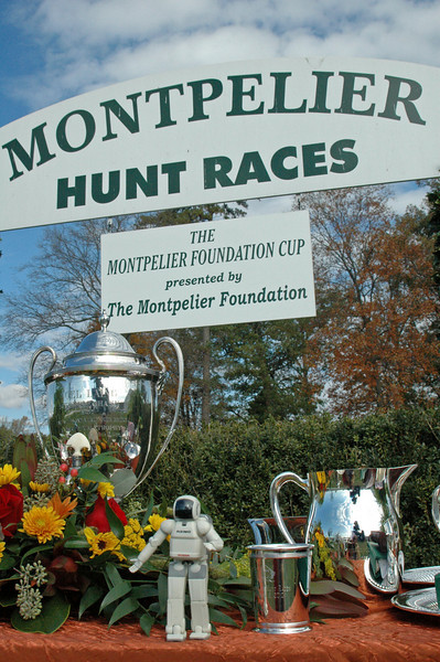 ASIMO attends the 76th Running....Montpelier Hunt Races.