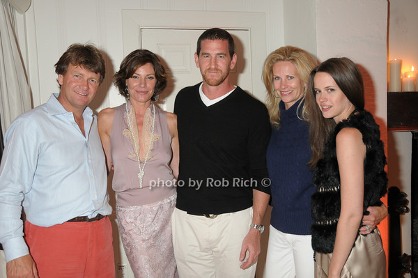 Fred Gradin, Luann de Lesseps, Adam Dell, Michele Gradin, Nicole Nadal<br /> photo by Rob Rich © 2009 robwayne1@aol.com 516-676-3939