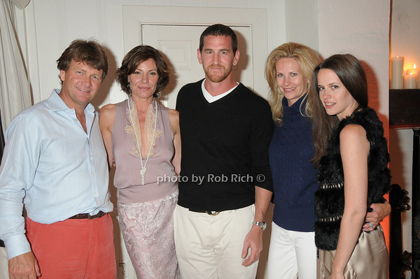 Fred Gradin, Luann de Lesseps, Adam Dell, Michele Gradin, Nicole Nadal<br /> photo by Rob Rich © 2009 robwayne1@aol.com 516-676-3939