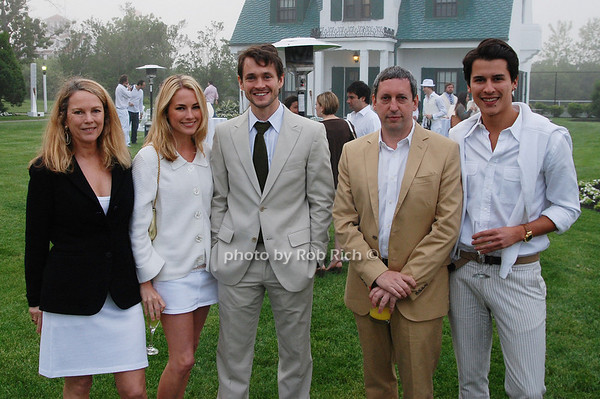Anne Hearst. Amanda Hearst, Hugh Dancy, Friend and Luigi Tadini<br />  photo by Rob Rich © 2009 robwayne1@aol.com 516-676-3939