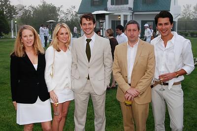 Anne Hearst. Amanda Hearst, Hugh Dancy, Friend and Luigi Tadini  photo by Rob Rich © 2009 robwayne1@aol.com 516-676-3939