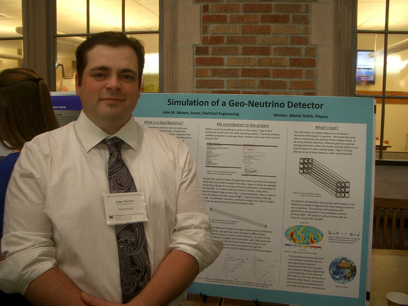 Not really the ancestral estate, but older brother John at his presentation on nutrino detection.