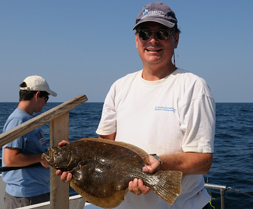 Brian Rasmus caught his personal best flounder, over five pounds!