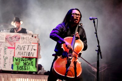 The Avett Brothers play the third of three sold out nights at Red Rocks Amphitheatre on July 13, 2014. Photos by Michael McGrath, heyreverb.com.