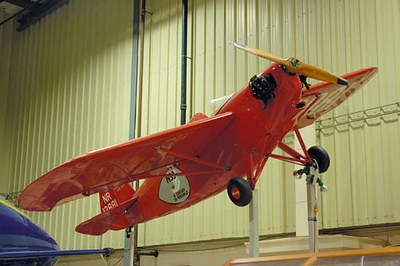 Stock image of Heath Center Wing airplane displayed in The Aviation Museum of Kentucky at the Blue Grass Airport in Lexington Kentucky USA