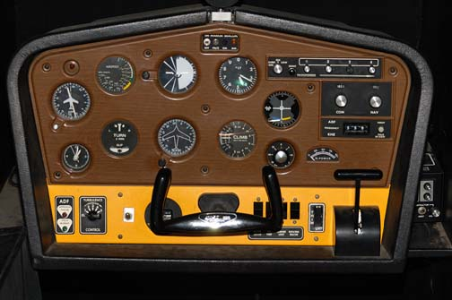 Stock image of  simulator displayed in The Aviation Museum of Kentucky at the Blue Grass Airport in Lexington Kentucky USA