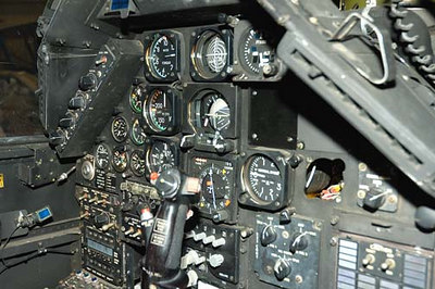 Stock image of  AH-1 Cobra attack helicopter instrument panel.  Displayed in The Aviation Museum of Kentucky at the Blue Grass Airport in Lexington Kentucky USA