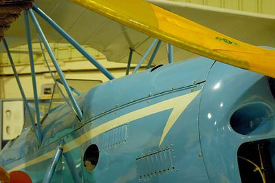Stock image of  1929 Crosley Moonbean biplane as displayed in The Aviation Museum of Kentucky at the Blue Grass Airport in Lexington Kentucky USA