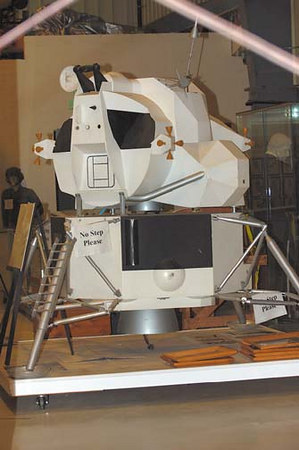 Stock image of a model of the Lunar Lander displayed in The Aviation Museum of Kentucky at the Blue Grass Airport in Lexington Kentucky USA