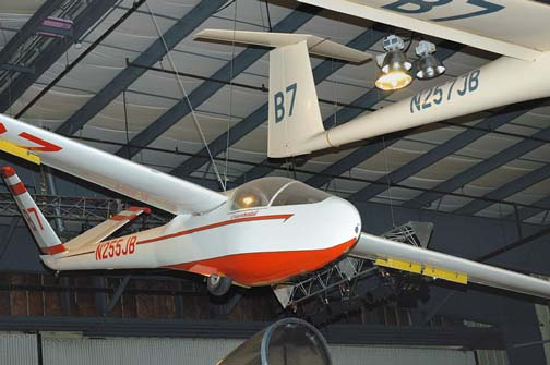 Stock image of  Sisu sailplane displayed in The Aviation Museum of Kentucky at the Blue Grass Airport in Lexington Kentucky USA