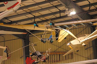Stock image of ultralight aircraft displayed in The Aviation Museum of Kentucky at the Blue Grass Airport in Lexington Kentucky USA