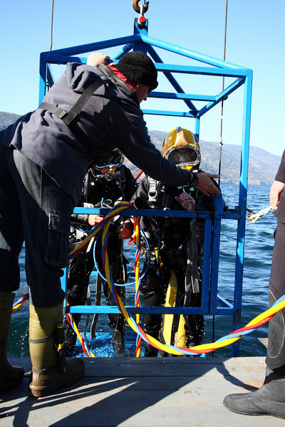 """This dive was a """"SurDO2"""" short for Surface Decompression on Oxygen, meaning that even though they're at the surface, they're not done diving yet"""