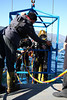 "This dive was a ""SurDO2"" short for Surface Decompression on Oxygen, meaning that even though they're at the surface, they're not done diving yet"