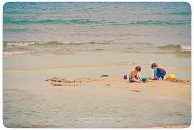 Vintage Beach Tableau