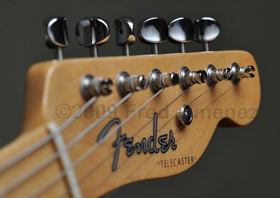 Fender Telecaster 1952 Reissue.  Off camera strobe.