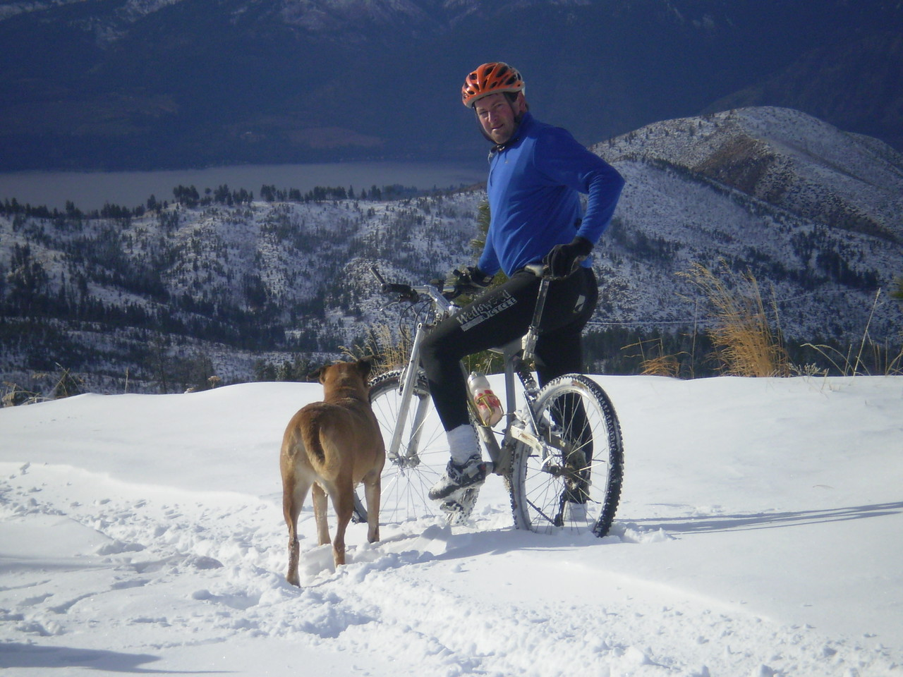 Fall Bike Ride Above Lake Chelan with Lucy. 2007?