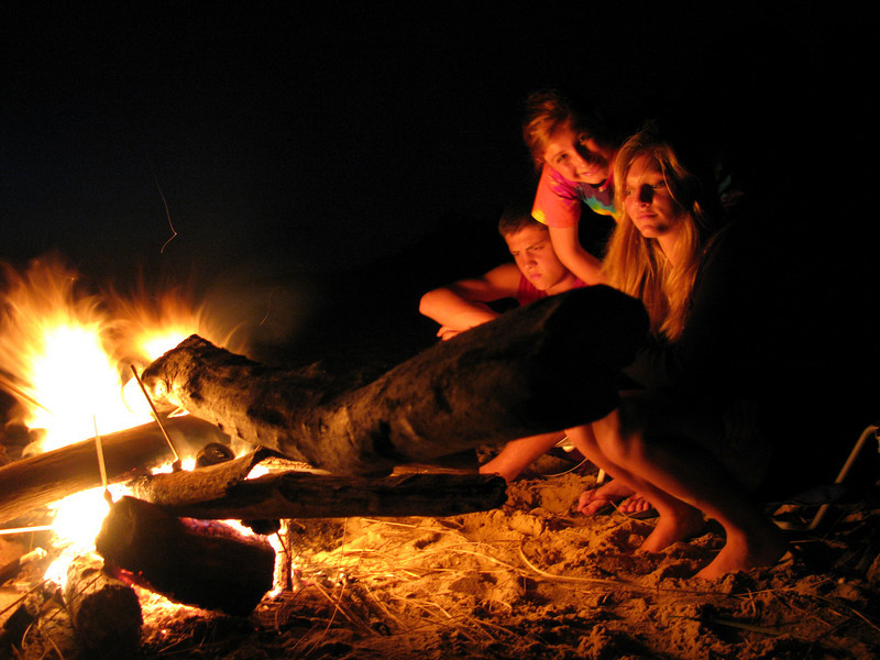 Man has enjoyed fire for thousands of years too. Lake Michigan Beach 2009.