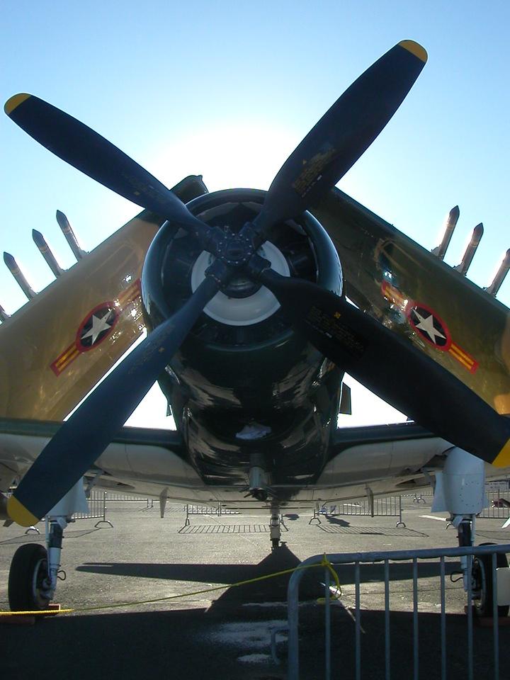 Skyraider. Reno Air Races. Korea/Vietnam era ground support aircraft.