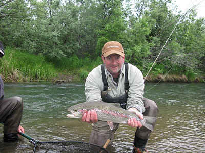 22.5 inch Rainbow on the Kanektok River West Alaska, on the Fly.