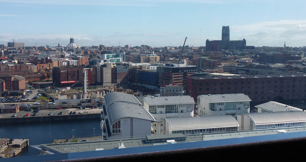 Two Cathedrals & Modern flats from Big Wheel