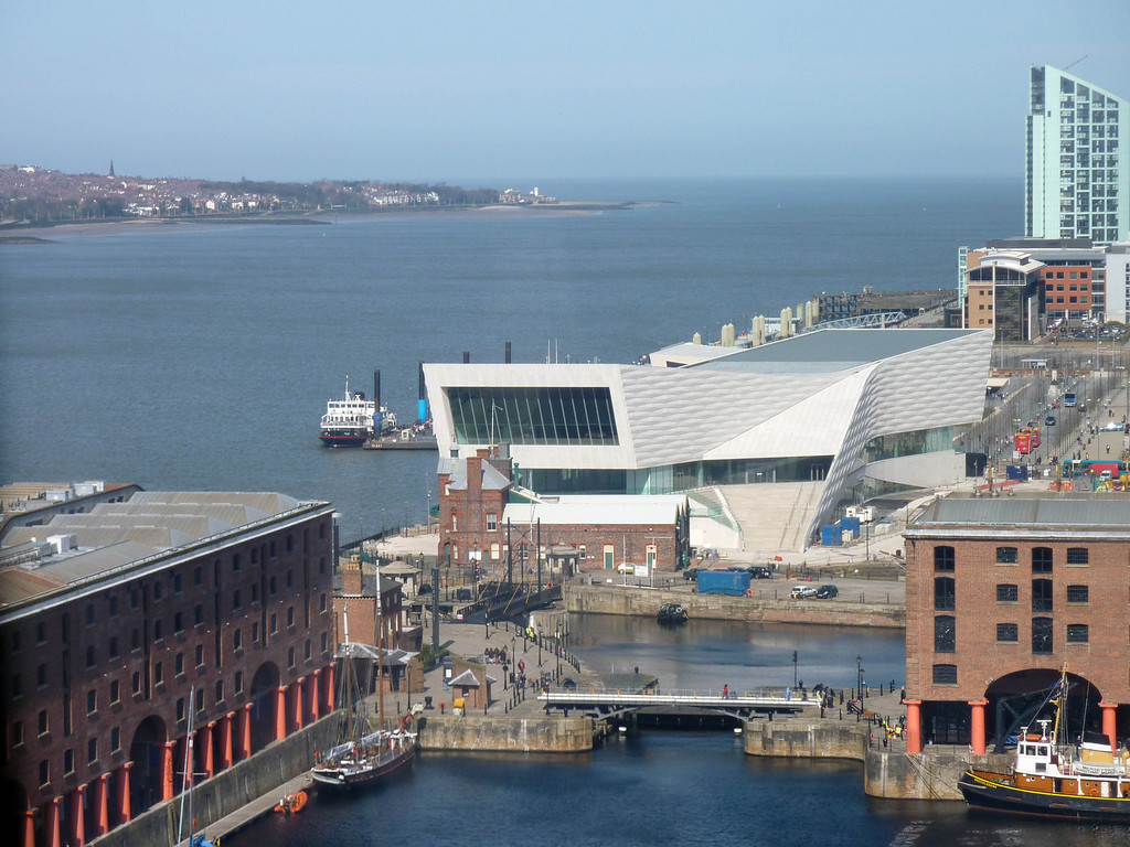 Estuary Mouth over Maritime Museum from the Big Wheel