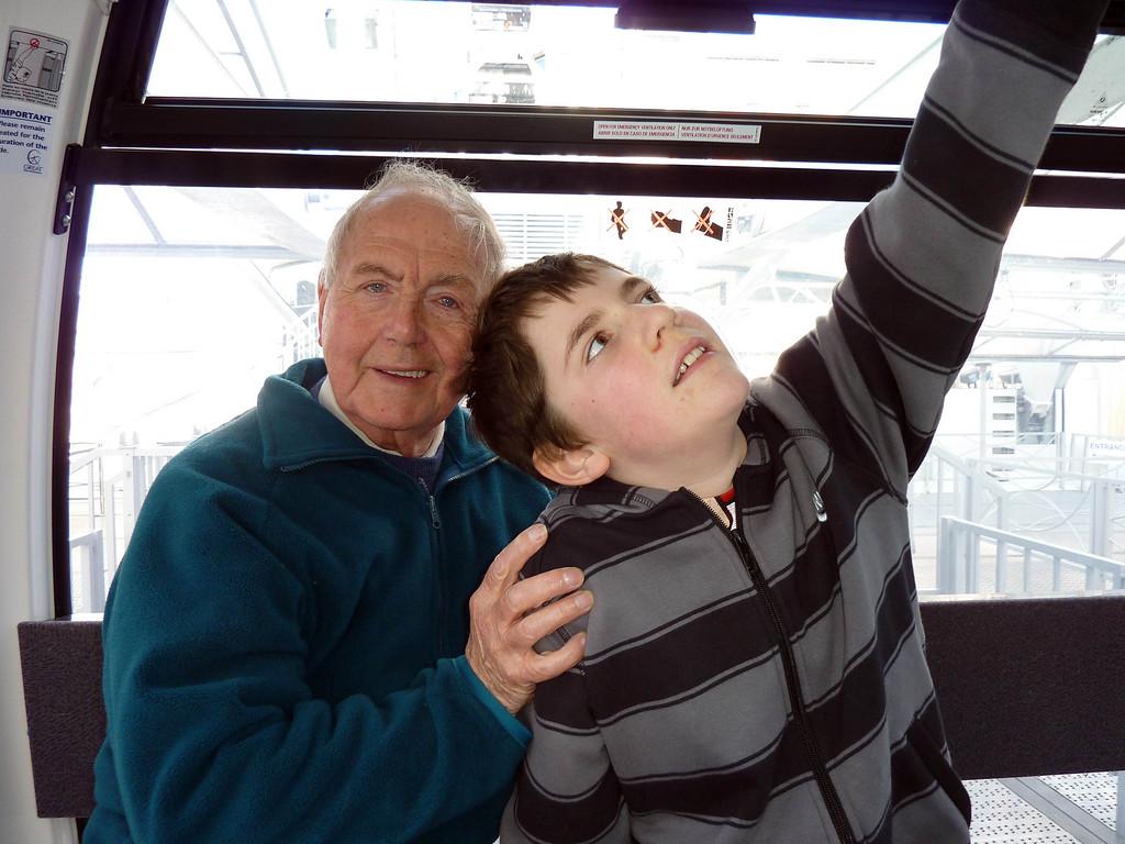Hickey & Ian on the Big Wheel