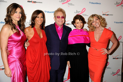 Elizabeth Hurley, Donna Karan, Sir Elton John, Evelyn Lauder, Jane Krakowski photo by Rob Rich © 2009 robwayne1@aol.com 516-676-3939