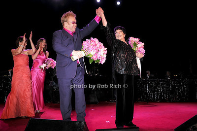 Elton John, Liza Minelli photo by Rob Rich © 2009 robwayne1@aol.com 516-676-3939