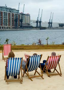 London beach, no hut,  by Richard Donkin