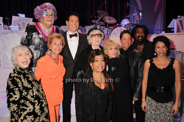 Dame Edna, Celeste Holm, Judge Judy, Michael Feinstein, Valerie Simpson, Elaine Stritch, Judith Light, Dave Koz, Nick Ashford, Gloria Reuben<br /> photo by Rob Rich © 2010 robwayne1@aol.com 516-676-3939