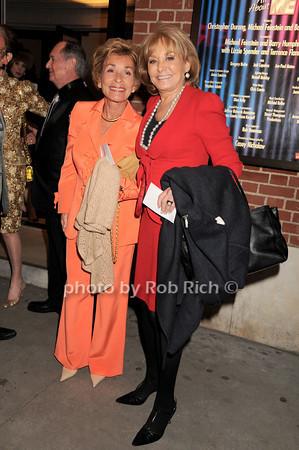 Judge Judy Sheindlin, Barbara Walters<br /> photo by Rob Rich © 2010 robwayne1@aol.com 516-676-3939