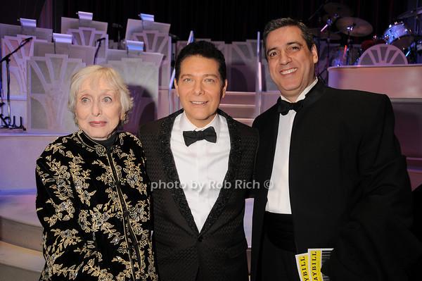 Celeste Holm, Michael Feinstein, Frank Basile<br /> photo by Rob Rich © 2010 robwayne1@aol.com 516-676-3939