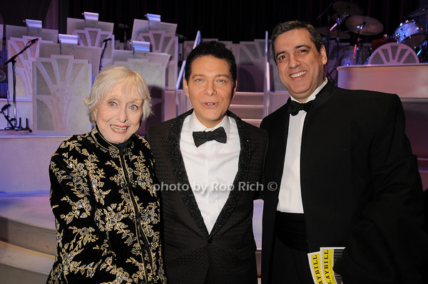 Celeste Holm, Michael Feinstein, Frank Basile<br /> photo by Rob Rich © 2010 robwayne1@aol.com 516-676-3939