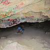 Inside the first cave.  The graffiti is awful!