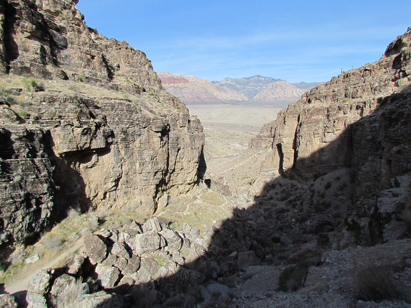 The view down Cave Canyon toward the horse ride area.
